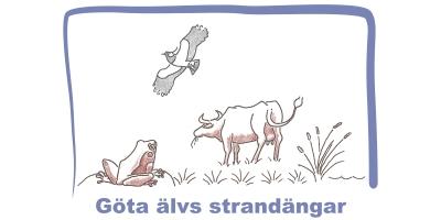 Illustration på Göta älvs strandängarna