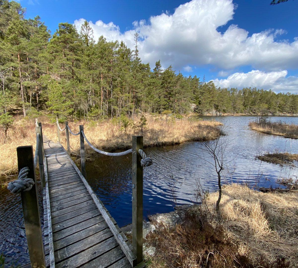 Bro och sjö. Foto.